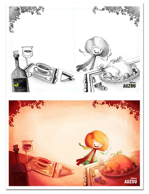 Illustration petite fille aux allumettes02